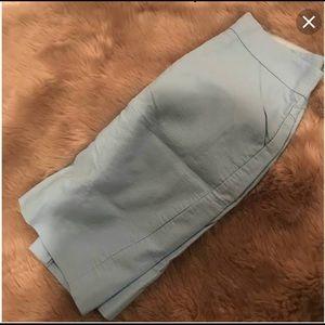 J. Crew Skirts - J. Crew Light Blue Pencil Skirt w/ Pockets